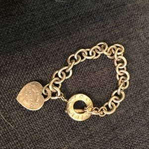 Tiffany & Co. sterling Heart Tag Toggle bracelet